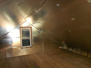 A Parkville attic with SuperAttic installed.