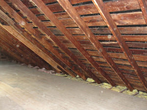 A Maryland attic before installation of SuperAttic