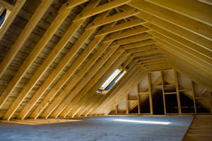 Cutaway view of attic in Bel Air