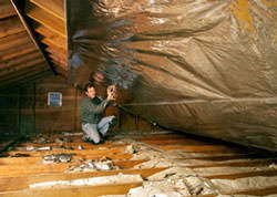 Radiant Barrier Attic Insulation in a Maryland home