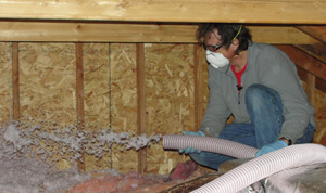 Fiberglass insulation installed Maryland